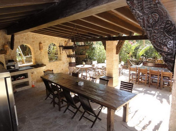 Casa Gazebo, Ibiza, dinner table