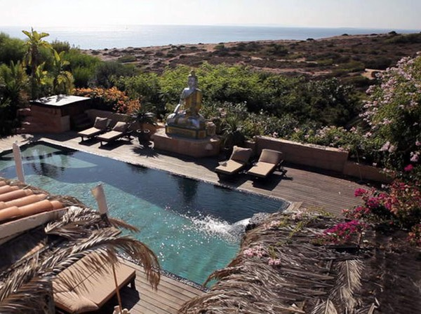 Casa Gazebo, IBIza, swimming pool birdview