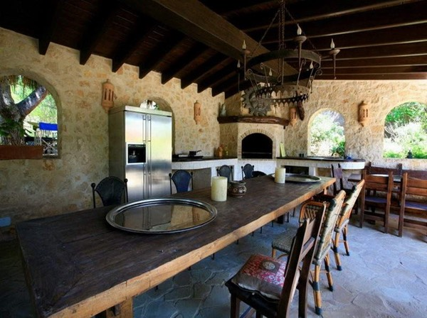Casa Gazebo, Ibiza, Interior large dining table