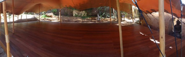 ZenmaX Casa Gazebo, IBIza, open air dojo panoramic