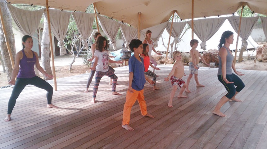 ZenmaX martial art intemezzo at Afkes magic yoga retreat Casa Gazebo Ibiza!